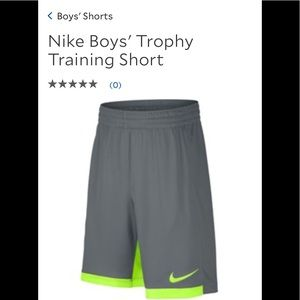 Nike NEW Boys' Trophy Training Short
